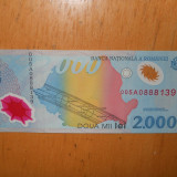 2000 LEI ECLIPSA UNC - LOT 2 BUCATI SERII CONSECUTIVE - Bancnota romaneasca, An: 1999