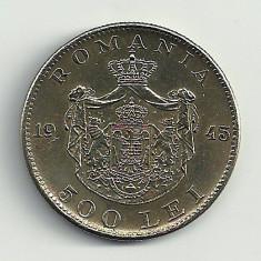 ROMANIA MIHAI I 500 LEI 1945 [12] XF++, livrare in cartonas - Moneda Romania, Cupru-Nichel