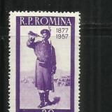 ROMANIA  1957 -  80 DE ANI DE LA RAZBOIUL PT.INDEPENDENTA ROM.  - LP 437- MNH