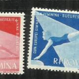 ROMANIA  1957 - CAMPIONATELE RUROPENE DE GIMNASTICA  - LP 429 - MNH