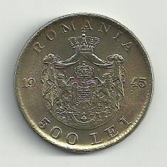 ROMANIA MIHAI I 500 LEI 1945 [6] XF++, livrare in cartonas - Moneda Romania, Cupru-Nichel