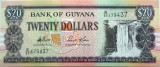 Bancnota 20 Dolari - GUYANA  * Cod 830 ---- UNC