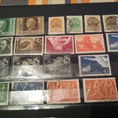 Ungaria 19 valori 1941-43, Stampilat