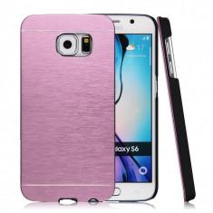 Husa MOTOMO PINK pelicula aluminiu Samsung Galaxy S6  si folie protectie ecran