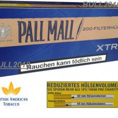 Tuburi PALL MALL XTRA FILTRU 25 mm, 200 tuburi tutun, filtre tigari - Foite tigari