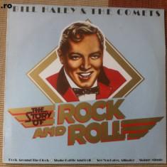Bill haley and the comets story of rock and roll disc vinyl lp muzica vest lp, VINIL
