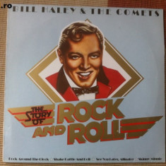 Bill haley and the comets story of rock and roll disc vinyl lp muzica vest lp - Muzica Rock & Roll, VINIL