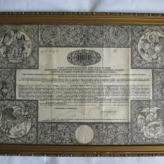 RARA!DIPLOMA HIROTONIRE(65X46 CM) PREOT SEMNATA PATRIARH(PREMIER) MIRON CRISTEA - Diploma/Certificat