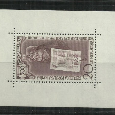 ROMANIA 1959 - 500 ANI BUCURESTI -VLAD TEPES - COLITA - LP 481 - MNH - Timbre Romania, Nestampilat