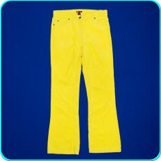 DE FIRMA → Pantaloni dama, catifea reiata, impecabili, H&M → femei   marimea 38, Culoare: Galben, Lungi