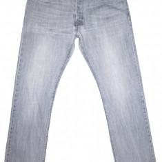 Blugi H&M - (MARIME: 36) - Talie = 93 CM / Lungime = 112 CM - Blugi barbati H&m, Culoare: Gri, Prespalat, Drepti, Normal