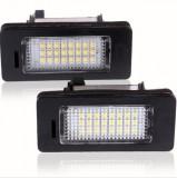 Set LEDuri numar dedicate BMW E60...E93 M5  X5 E71 E72 X6 CAN-BUS Alb Pur 6000K, EuropeAsia