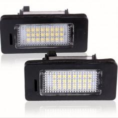 Set LEDuri numar dedicate BMW E60...E93 M5  X5 E71 E72 X6 CAN-BUS Alb Pur 6000K
