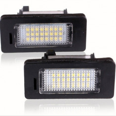 Set LEDuri numar dedicate BMW E60...E93 M5 X5 E71 E72 X6 CAN-BUS Alb Pur 6000K - Led auto EuropeAsia