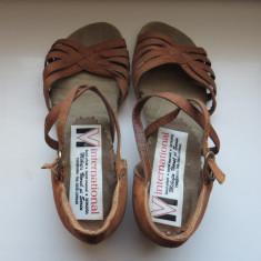 Pantofi de dans sportiv copii - Pantofi copii, Culoare: Maro, Marime: 27.5, Fete