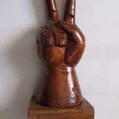 VICTORIE-PUERTO RICO-sculptura in lemn, deosebita