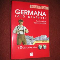 Germana fara profesor - Paul Coggle, Heiner Schenke ( nu contine CD ) - Curs Limba Germana