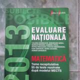 EVALUARE NATIONALA MATEMATICA,TEME RECAPITULATIVE ,CARTEA ESTE NOUA .