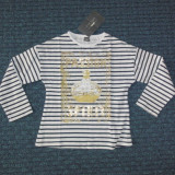 Fetite 2-3 ani - Nou! ZARA, bluza dungata cu auriu, Culoare: Multicolor, Fete