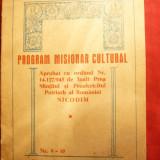 Program Misionar Cultural - Arhiepiscopia Bucurestiului 1943 - Carti Istoria bisericii
