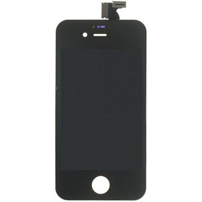 Pachet Lcd display iphone 4s  folie sticla fata spate + capac spate + acumulator foto mare