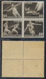 1948 JAPONIA sport bloc 4 timbre neuzate atletism tenis yachting sulita