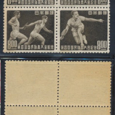 RFL 1948 JAPONIA sport bloc 4 timbre neuzate atletism tenis yachting sulita, Nestampilat
