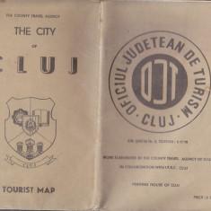 Cluj - harta turistica veche