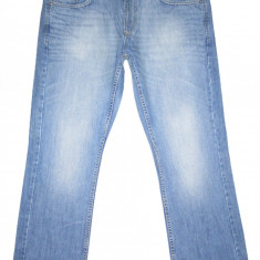 (BATAL) ANGELO LITRICO - (MARIME: 40 x 32) - Talie = 100 CM / Lungime = 111 CM - Blugi barbati, Culoare: Albastru, Prespalat, Drepti, Normal