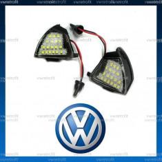 Lampi lumini sub oglinzi pentru VW Passat B6, Golf 5 IV, puddle light led, Volkswagen