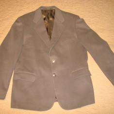 Sacou barbatesc/barbati din lana, casual, ideal pentru evenimente, ocazii, samd - Sacou barbati, Marime: 52, Culoare: Maro, 2 nasturi, Marime sacou: 52, Normal