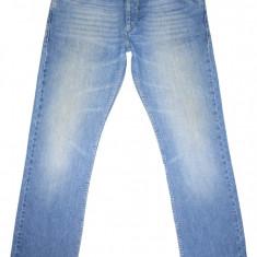 (BATAL) SELECTED HOMME - (MARIME: 36 x 34) - Talie = 99 CM / Lungime = 113 CM - Blugi barbati, Culoare: Albastru, Prespalat, Drepti, Normal