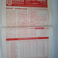 Program F.C. Soimii I.P.A. Sibiu - Progresul ~ 7 noiembrie'82 - Program meci
