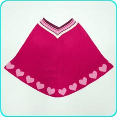 IMPECABIL→ Poncho foarte frumos, design deosebit, TCM → fete | 9—10 ani | 140 cm, Marime: Alta, Culoare: Roz
