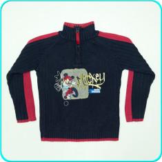 Pulover Mickey Mouse, bumbac, fermoar la gat, C&A→ baieti | 5—6 ani | 110—116 cm, Marime: Alta, Culoare: Bleumarin