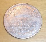 20 krajczar 1870 GYF, Europa