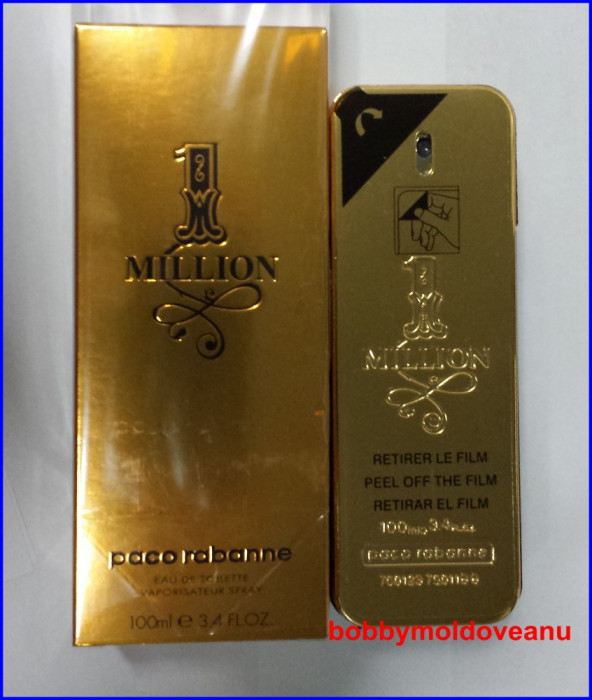 PARFUM PACO RABANNE 1 MILLION - ONE MILLION 100ML POZE REALE! foto mare