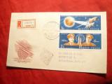 Plic  FDC - Cosmos - Vostok 3 si 4  pereche   Ungaria 1962