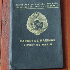 Carnet de Marinar / Livret de Marin - Republica Socialista Romania / RSR anii 60 - Pasaport/Document
