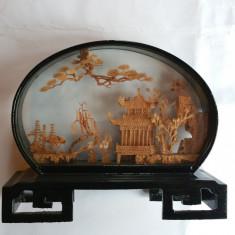 Obiect decorativ - sculptura - China sec. 20 - lucrat manual în pluta - Arta din Asia