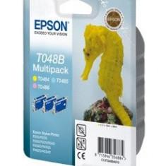 Epson Pachet 3 tonere inkjet color Epson T048B - Riboane imprimanta