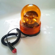 Girofar borcan 001 cu magnet 12V sau 24V portocaliu - Girofar Auto