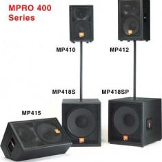 Sistem Boxe pasive JBL Professional MPRO 4000W, 2xMP410, 2xMP415, 2xMP418S, Peste 1000 W