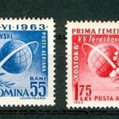 Romania 1963 - COSMOS VOSTOK 5 SI 6, serie nestampilata, F109