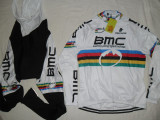 Echipament ciclism complet iarna toamna BMC uci MTB champion set thermal fleece