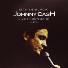 JOHNNY CASH Man In Black Live in Denmark 1971 LP (2vinyl) - Muzica Country