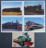 R.S.AFRICA 1983 - LOCOMOTIVE, 5 CARTI POSTALE - AS 012B