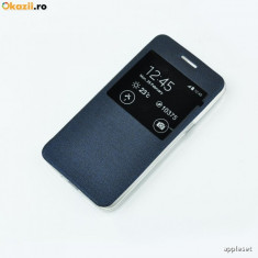 Husa Samsung Galaxy Grand Neo i9060 i9080 S-VIEW Blue - Husa Telefon Samsung, Albastru, Piele Ecologica, Cu clapeta, Toc