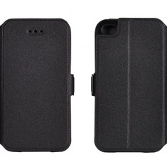 Husa Microsoft Lumia 640 Nokia Flip Case Slim Inchidere Magnetica Black - Husa Telefon Nokia, Negru, Piele Ecologica, Cu clapeta, Toc