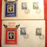 2 Plicuri FDC-100 Ani Posta Bulgara-1940 Bulgaria, 2+2 val.
